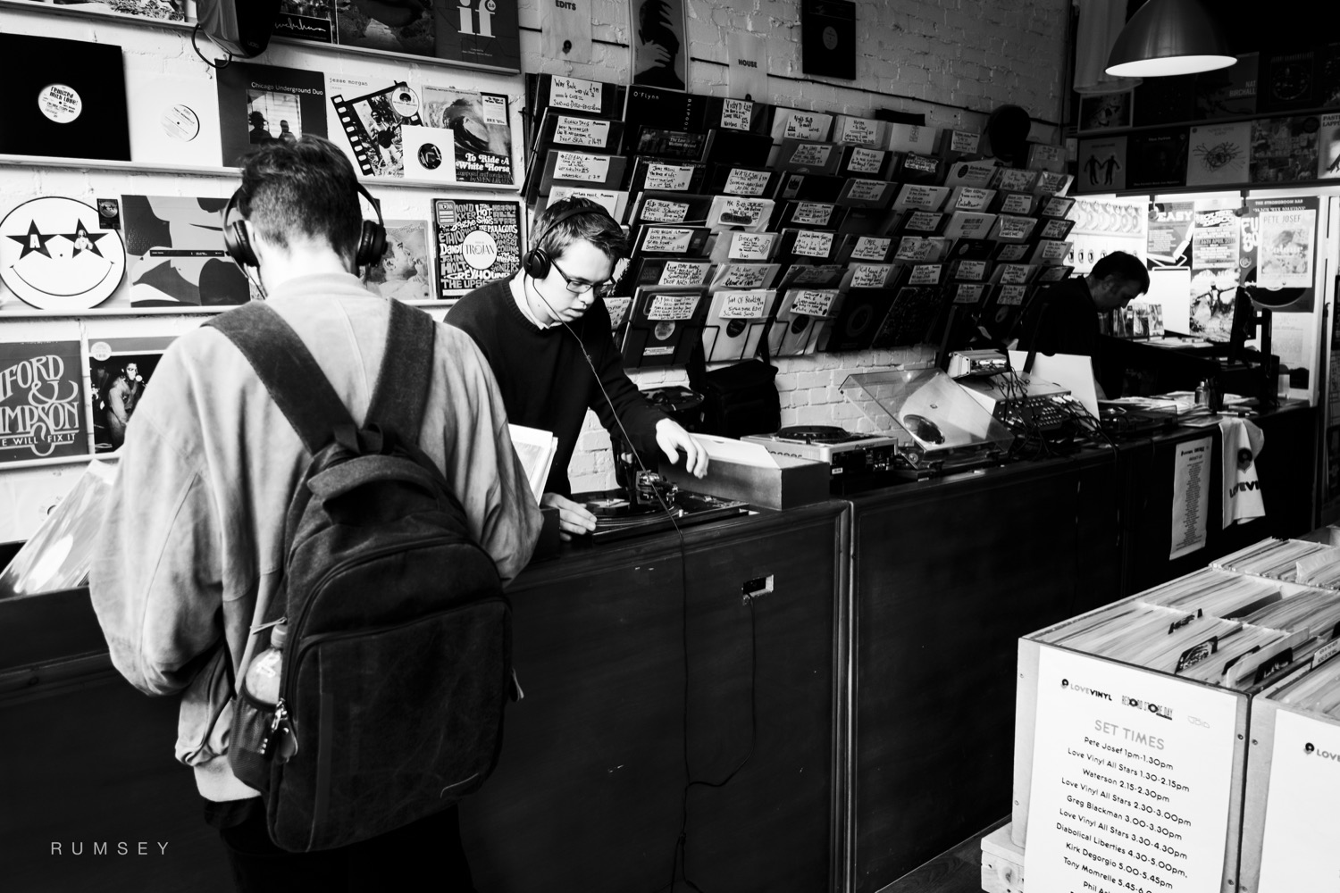 Inside of Love Vinyl record shop