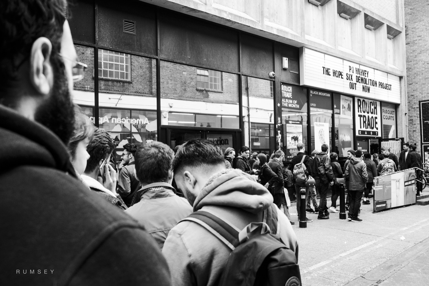 The queue to get into Rough Trade East on Record Store Day 2016