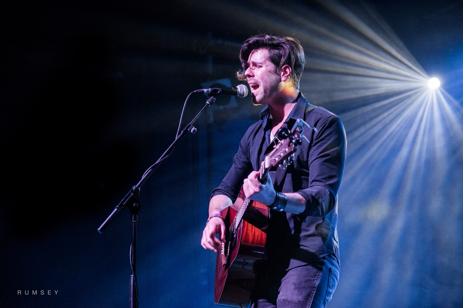 Michael Kilbey on stage at the Scala, London