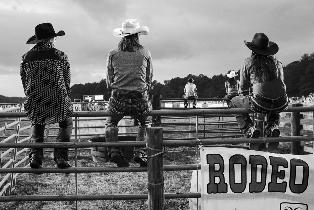 Watching the rodeo, Hayesville, North Carolina