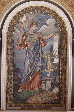 Mosaic of Minerva by Elihu Vedder, 1897  in the Library of Congress