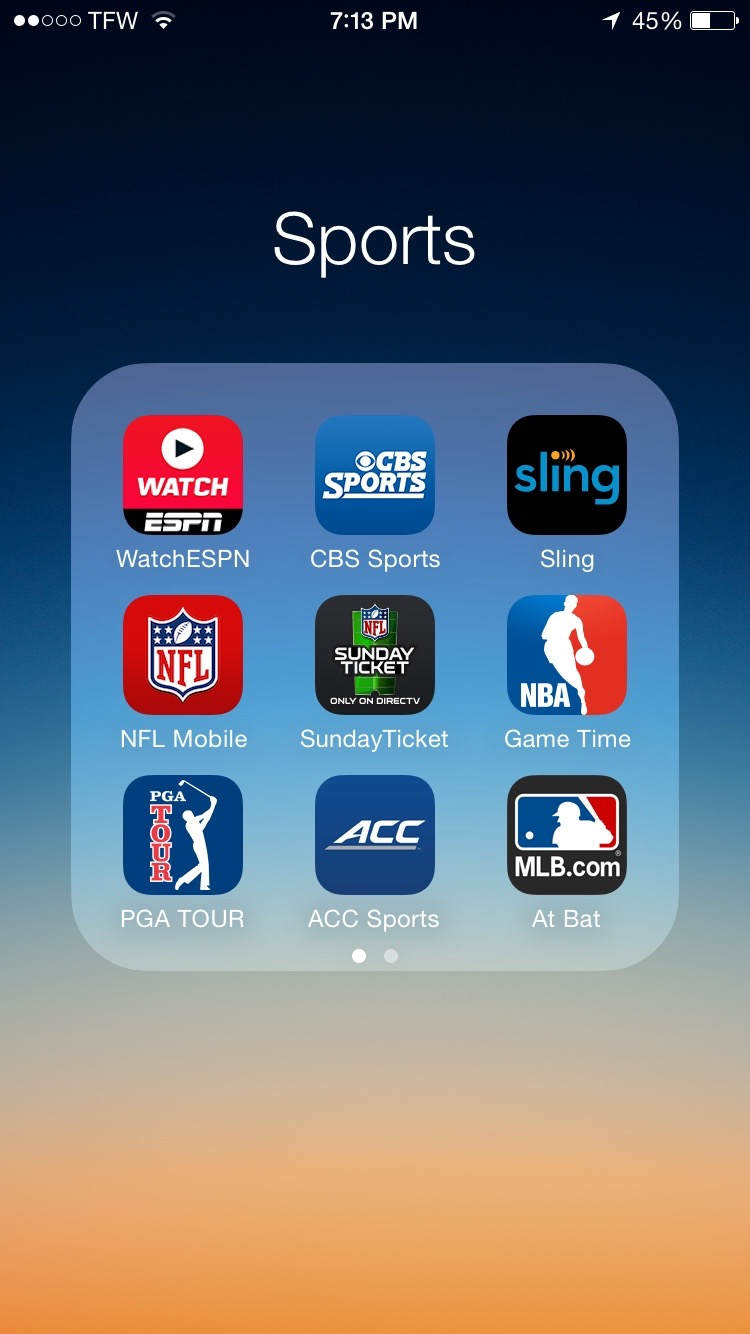 watch sports online free iPhone iPad android apple tv roku
