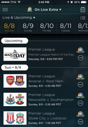 Watch Premier League online with NBC Sports Live Extra