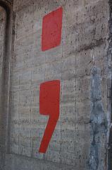 """""""Semicolon"""" by ilovememphis CC License: Attribution No Derivative Works"""