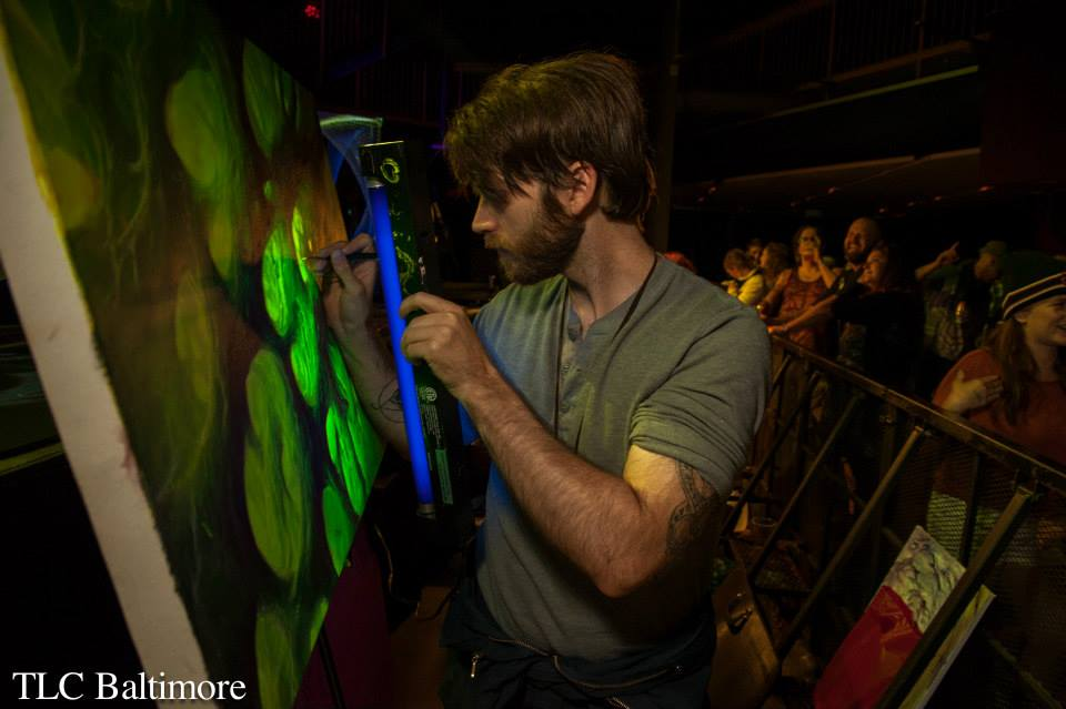Live painting at Ram's Head Live in Baltimore for the Papadosio New Years Eve Show.  Photo credit: TLC Baltimore
