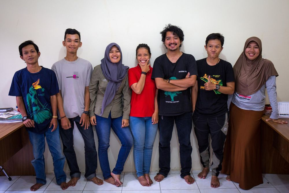 Biodiversity Monitoring and Evaluation (left to right): Satriyo, Rodransyah, Eva, Dela, Marsel, Chairunas, Desy