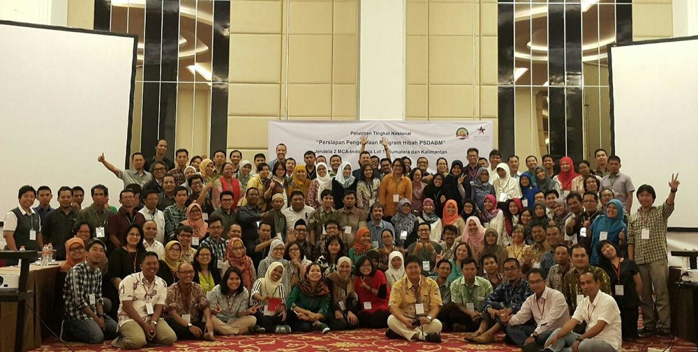 Monitoring and Evaluation Training in Bogor with Yayasan Kehati and MCA- Indonesia