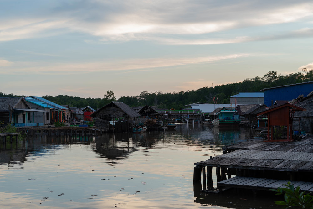 The village of Sungai Nibung, pictured here, relies on fishing and the surrounding environment for food and economic stability.