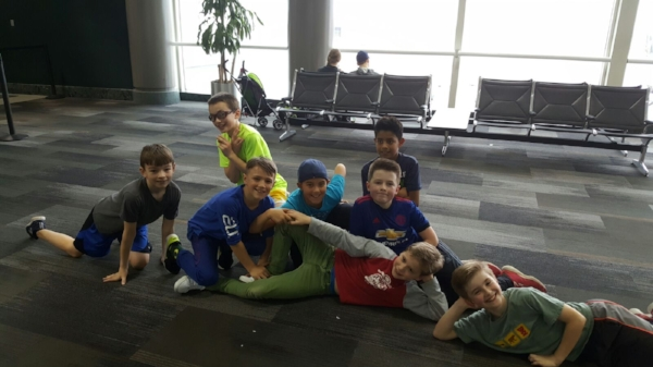 Hanging around the Houston airport.