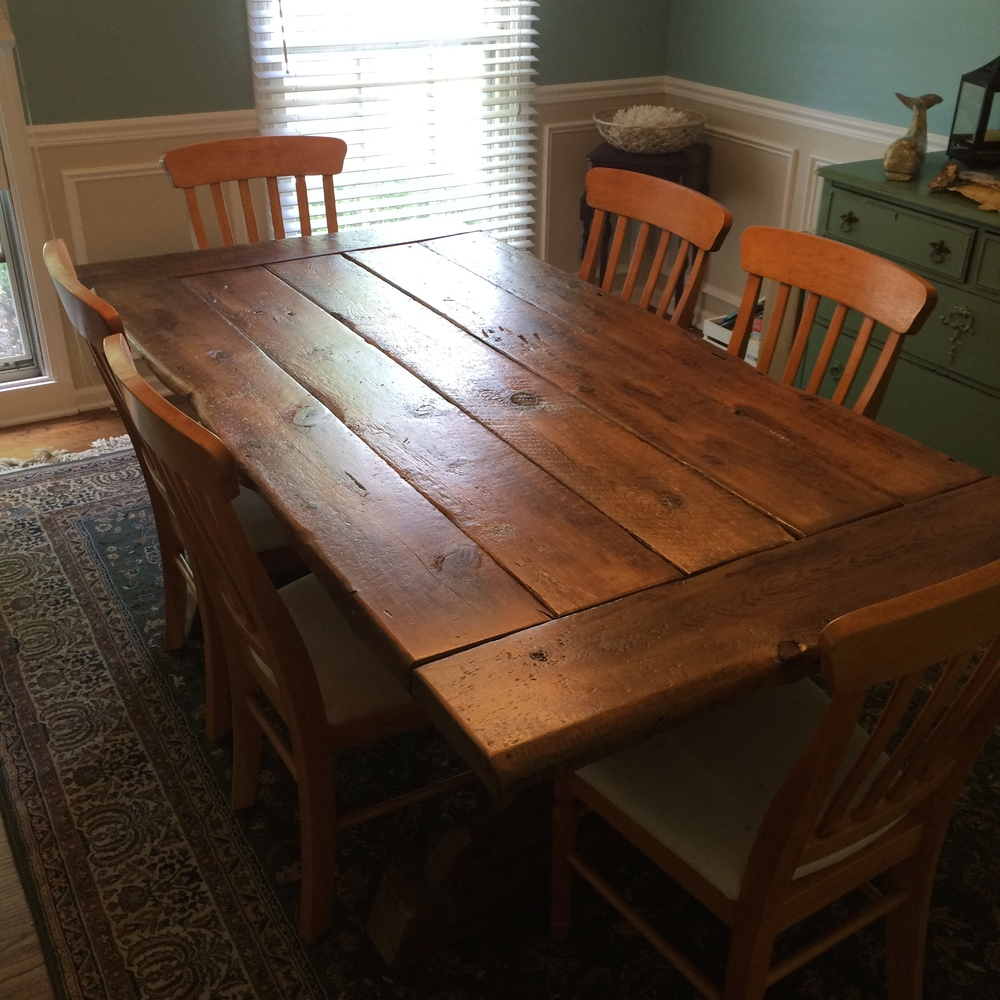 Barnwood Kitchen Table Welcome Repurposed Midwest
