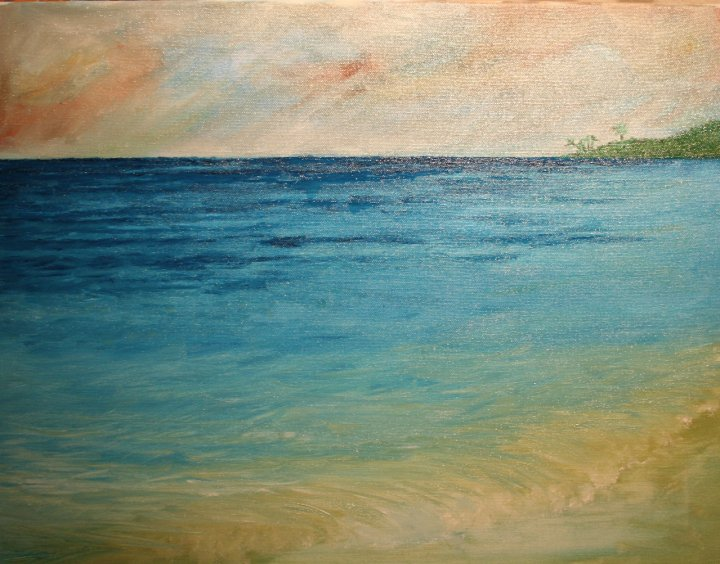 """Makaha"" oil on canvas"