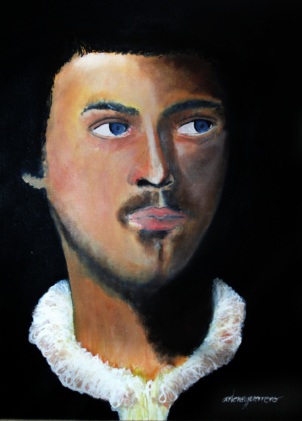 "Case Study Reproduction Work (Titian ""Man with Glove"")"