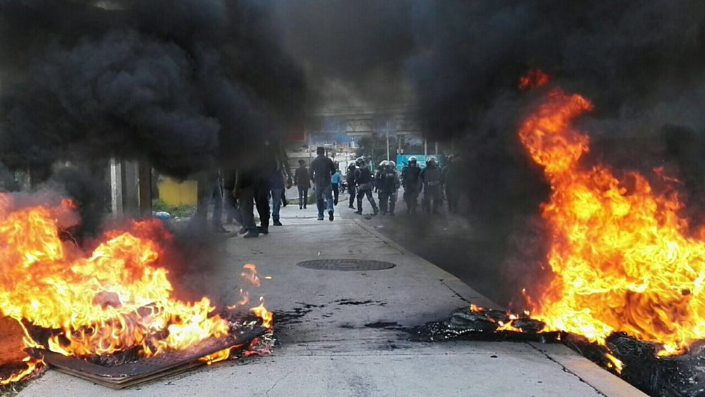 protest and road blockade in el progreso, yoro. photo credit: unknown