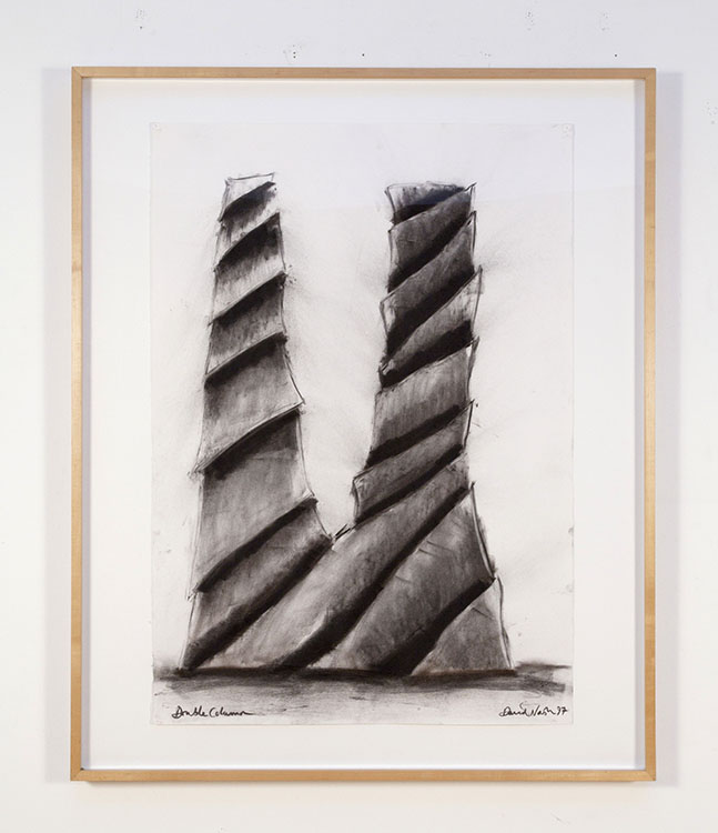 Double Column, 1997 Charcoal on paper | Frame: 46.5 x 38.25 inches / Image: 39 x 27.5 inches | HG4757