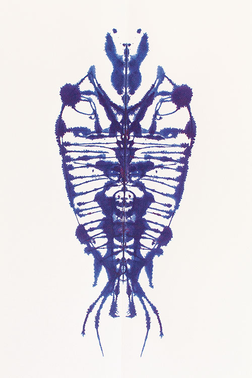 A Few Intersections Between Big and Small No. 6 , 2012 Ink on paper | 22.5 x 30 inches | HG11493