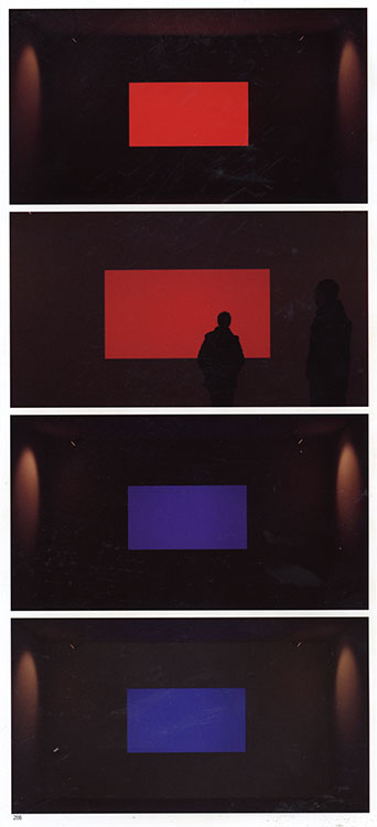 Dinnebito , 2003 (color code: red through violet) | Tiny Town Series | LED light