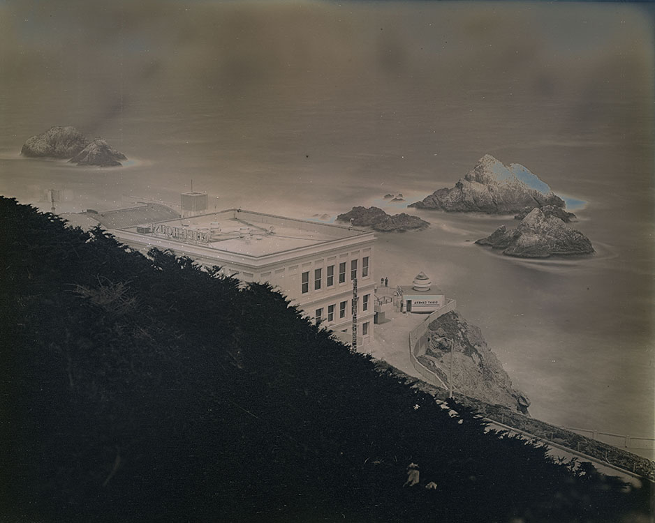 Cliff House and Seal Rocks from Sutro Heights Park , 2014 Daguerreotype, Unique (in camera exposure) | Plate: 8 x 10 inches | HG12653