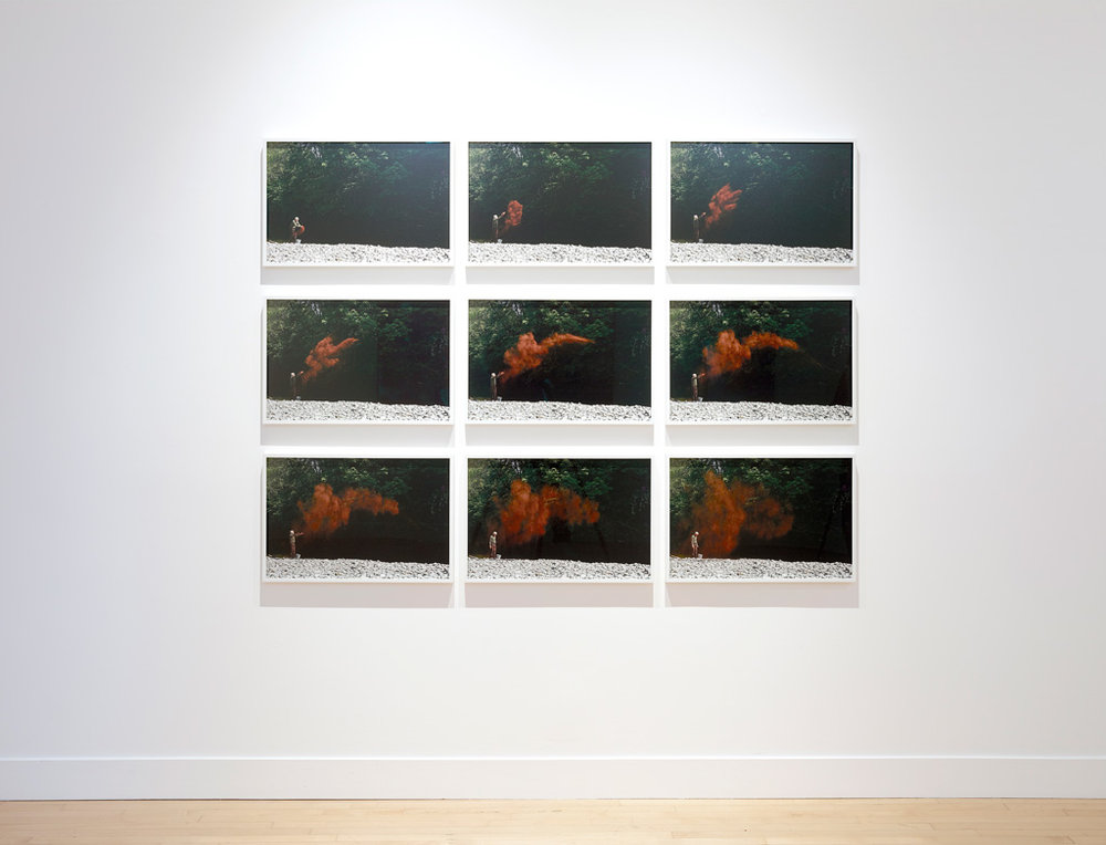 Installation view of Andy Goldsworthy:  Drawing Water Standing Still,  June 1 - July 29 at Haines Gallery