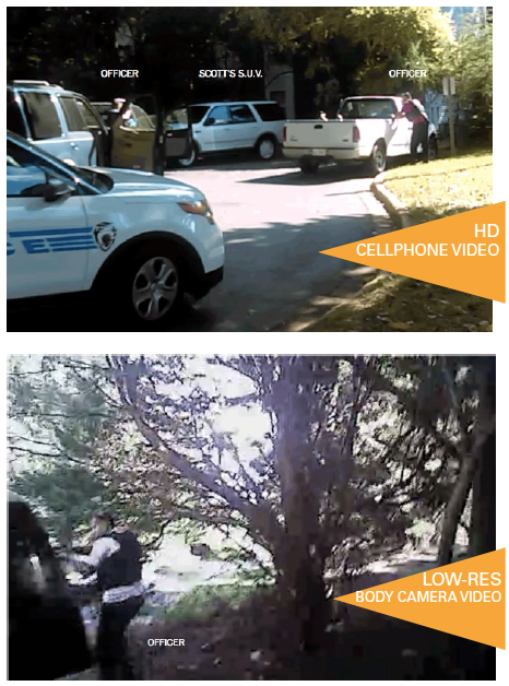 Comparison: High Definition Cell Phone Video vs. Low Resolution Body Camera Video