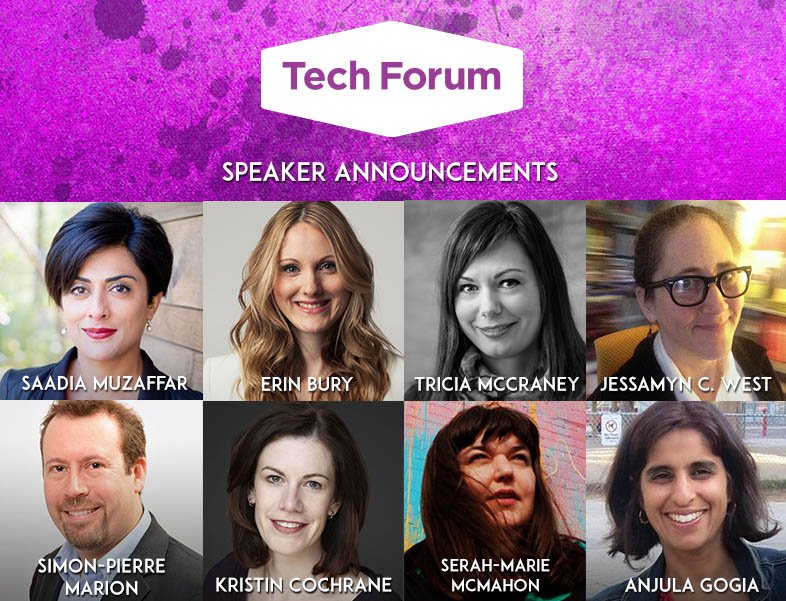 Photos of Tech Forum speakers.