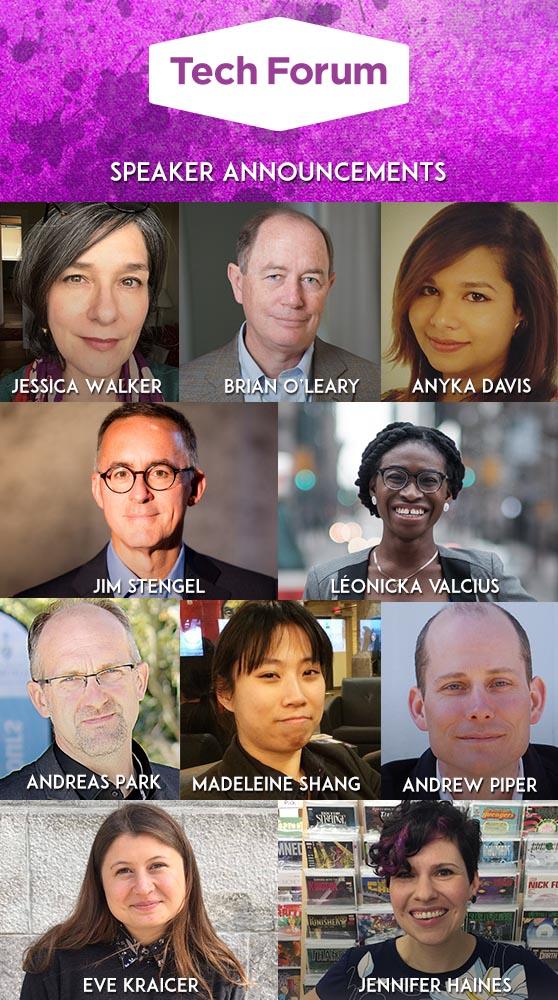 Photos of Tech Forum speakers