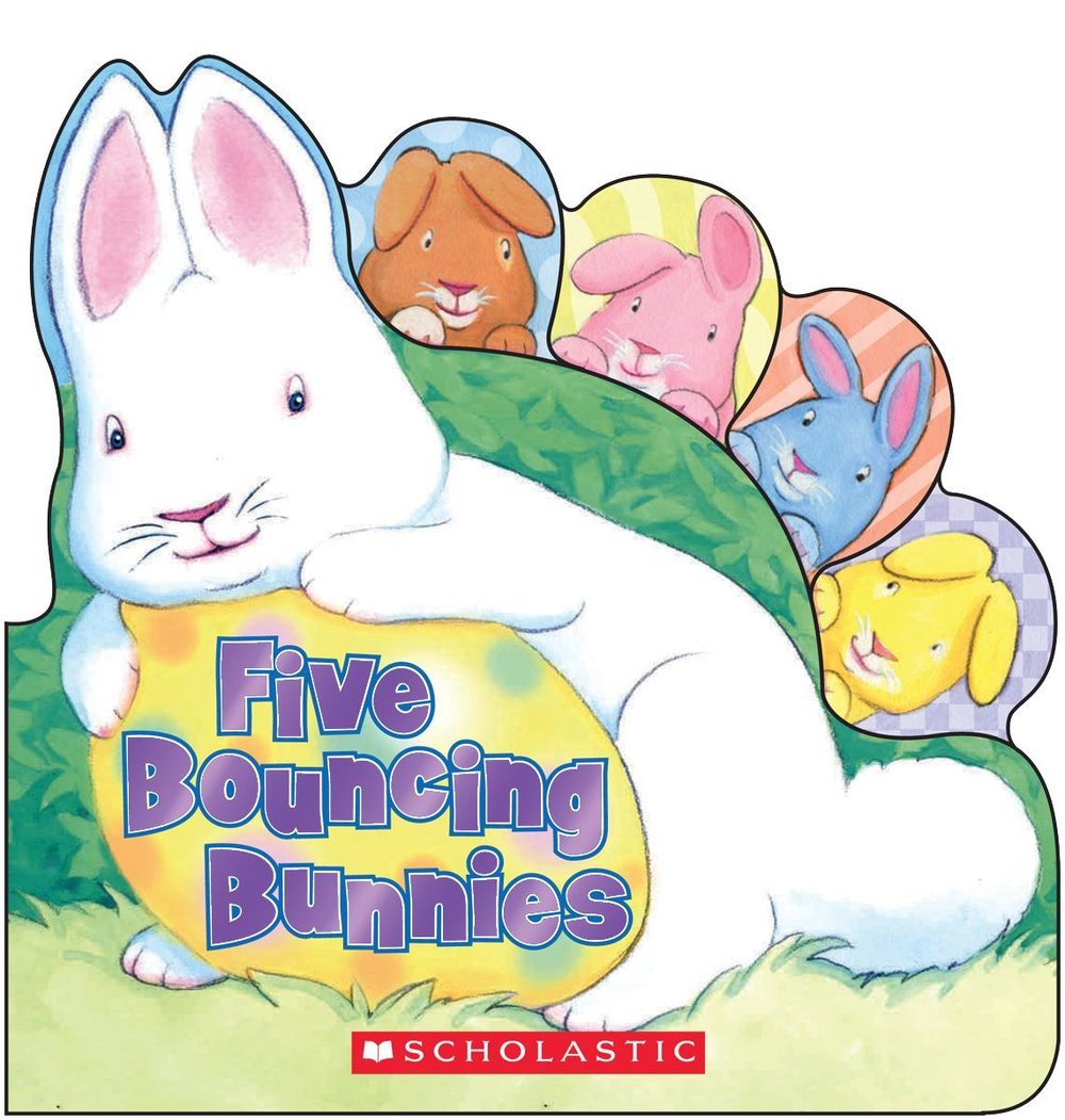 Five Bouncing Bunnies written by Lily Karr, illustrated by Jacqueline Rogers
