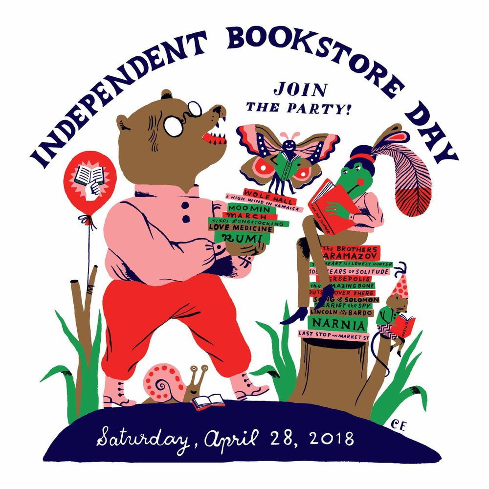 The US poster for Independent Bookstore Day.