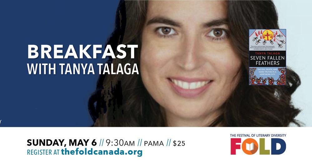 Breakfast with Tanya Talaga - Sunday, May 6 at 9:30 AM