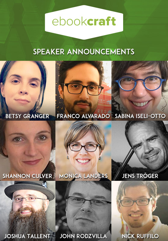 Photos of the ebookcraft speakers.