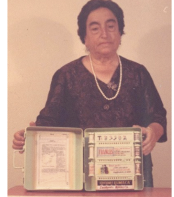 In 1949,    Ángela Ruiz Robles   , a teacher from León, Spain, patented the Enciclopedia Mecánica .