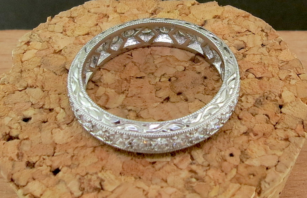 Platinum and 1.05 CT Diamond Eternity Band (MB2388)