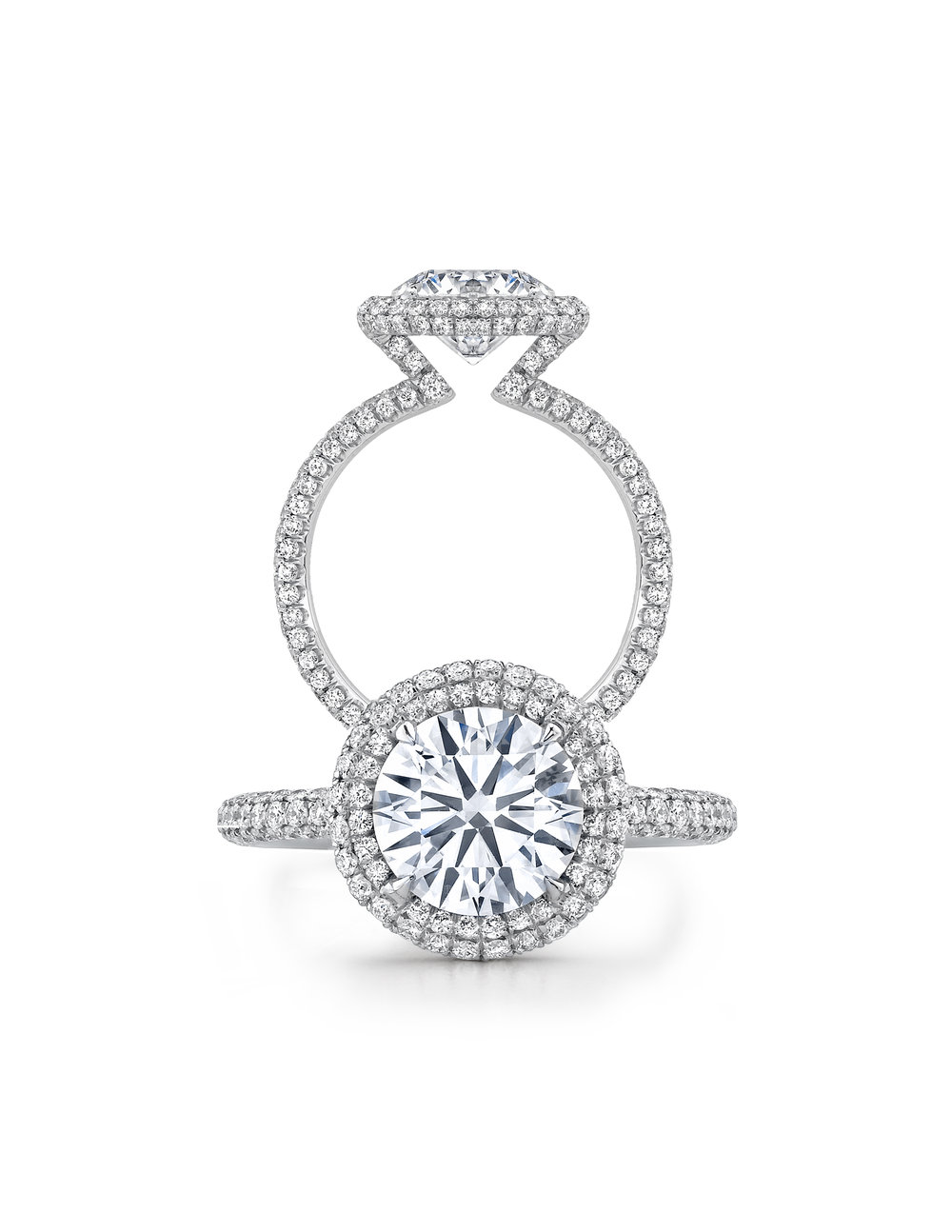 Platinum Diamond pave ring