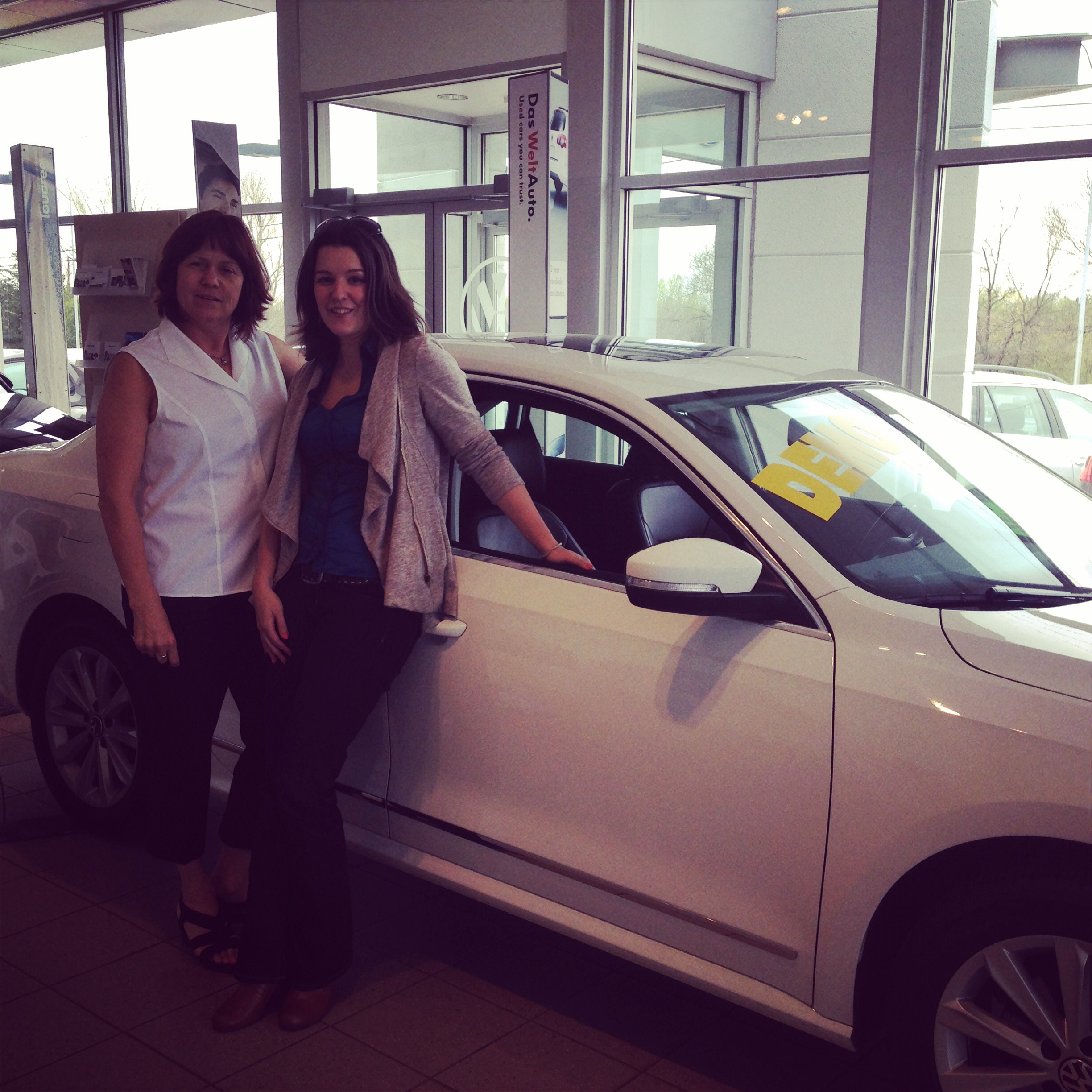 With Irene at Hunt Club Volkswagen in Ottawa