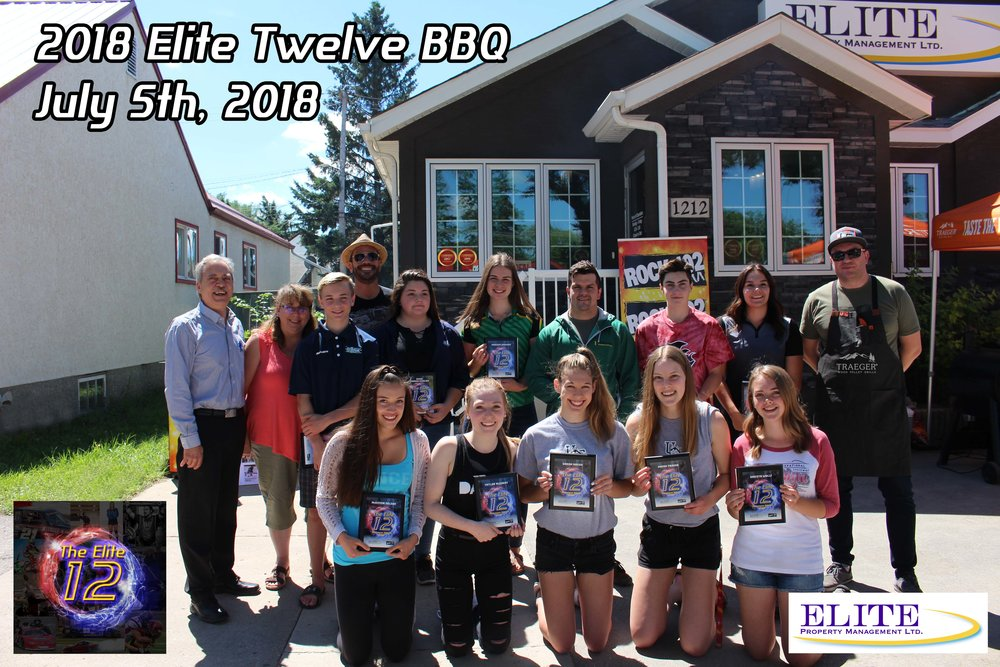 2018 elite twelve athletes (from left to right)  Top row: Robert pizzey, emma vardeh-esakian, madison johnson, daniel heintz, kyle eisenkrein, savannah smith  Bottom row: mckenna nelson, taylor mcjuray, sarah hazen, mandi fraser, dakota wollf  missing: dj molle