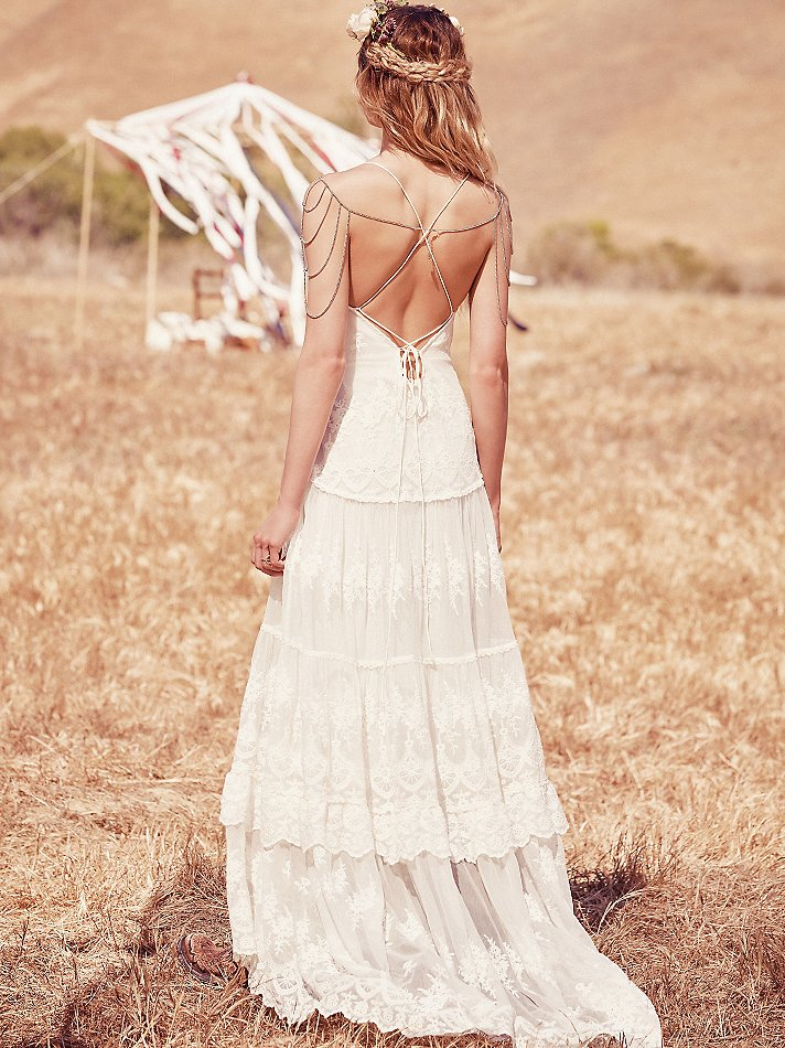 Canyon Moon Mesh Dress Back View