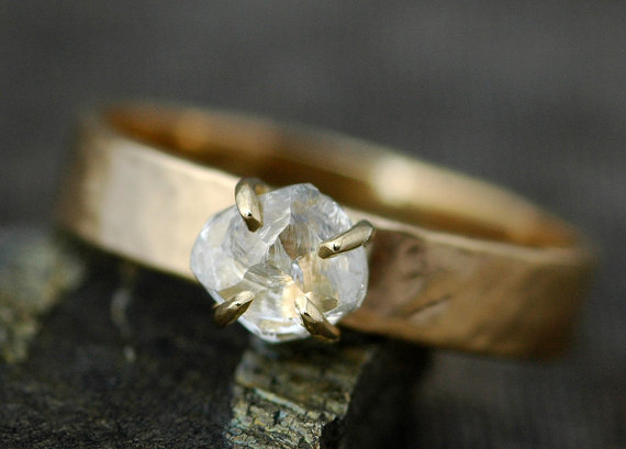 Etsy Raw Transparent Diamond Ring
