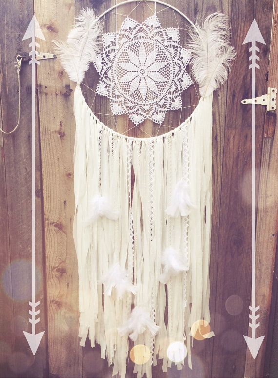 Etsy White Feather Dreamcatcher
