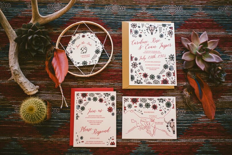 Here are some gorgeous boho style invitations!