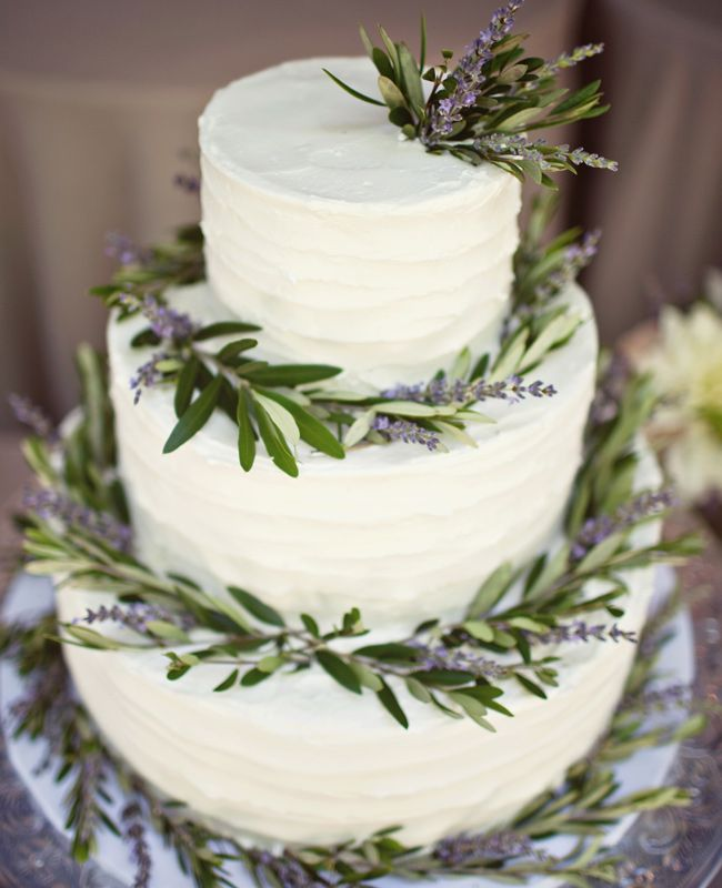 Lavender Botanical Wedding cake