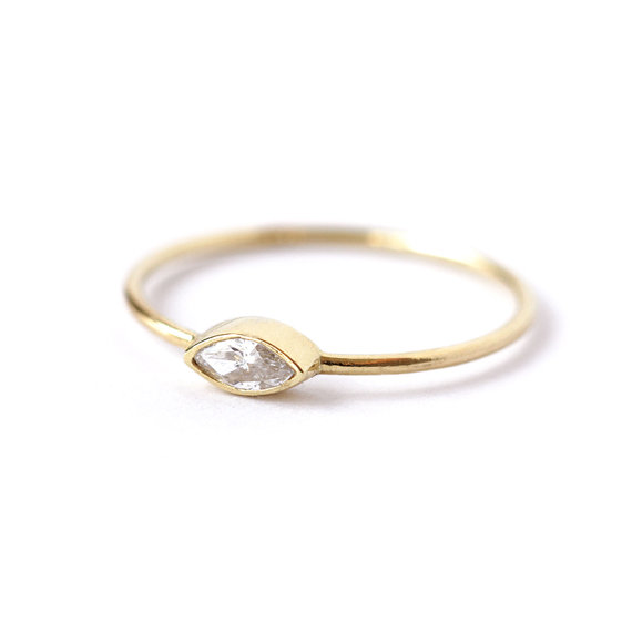 marquise diamond ring artemerjpg - Bohemian Wedding Rings
