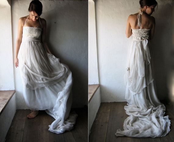 Raw Silk Wedding Dress
