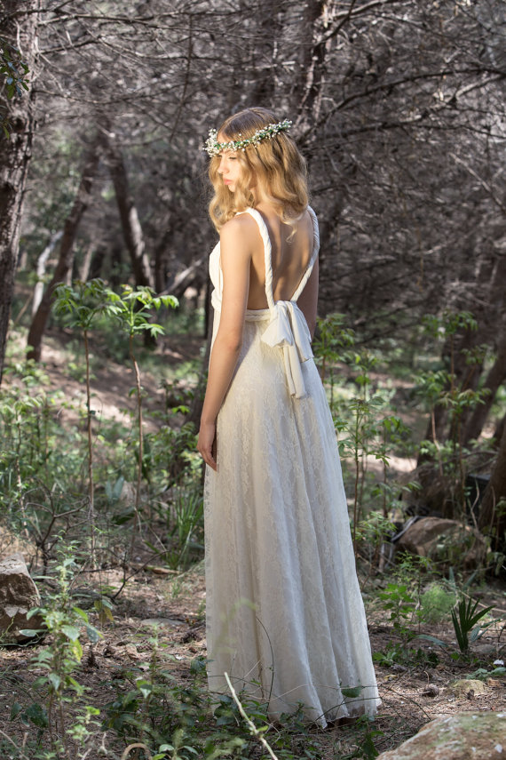 Etsy Boho Wedding Dress