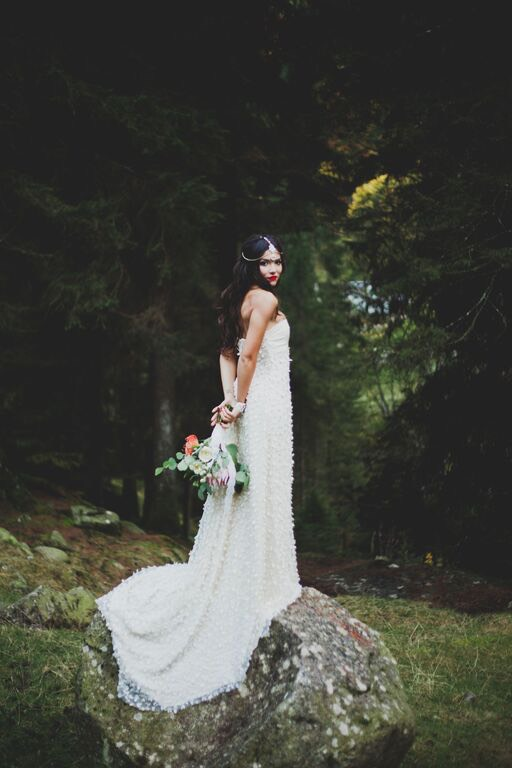 Boho Wedding in the Alps bride halfturn.jpg