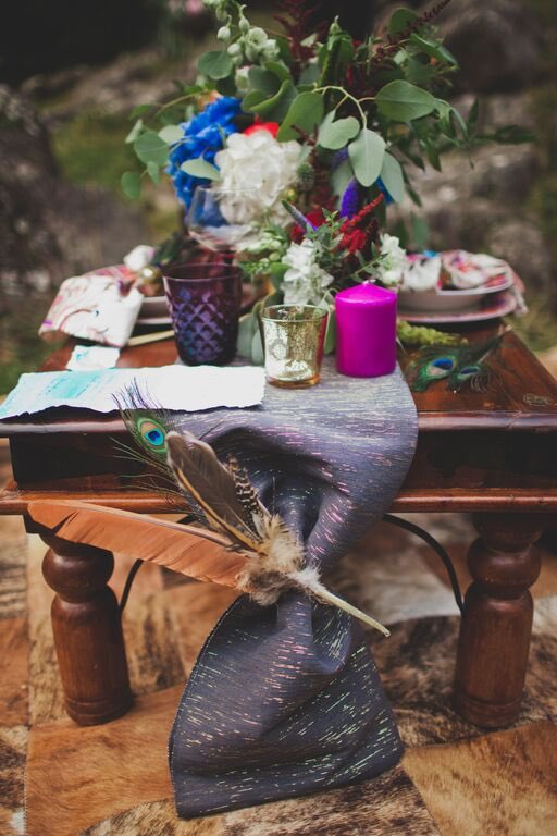 Boho Wedding in the Alps feather detail.jpg