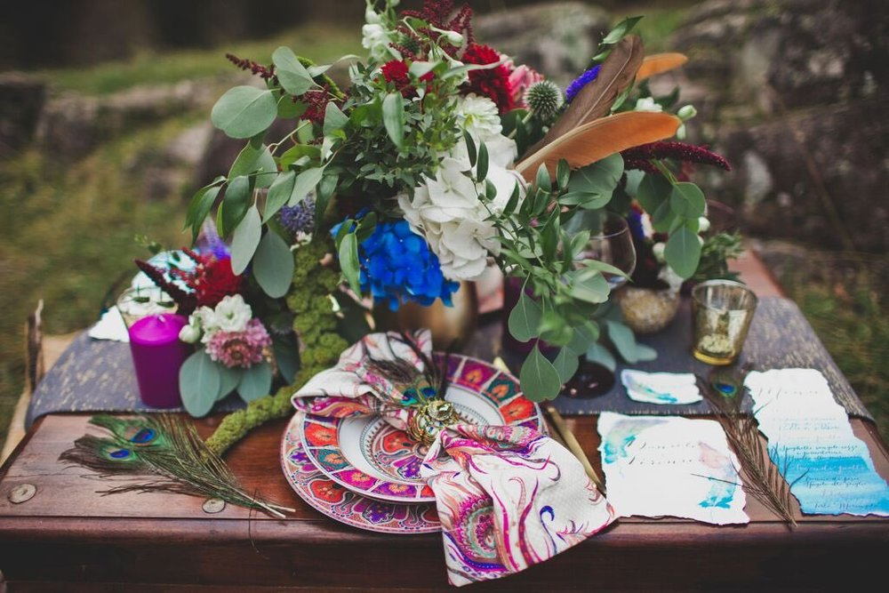 Boho Wedding in the Alps table setup 6.jpg