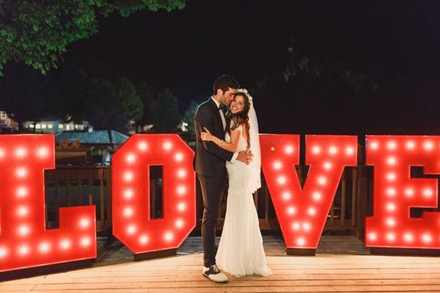 Red Love Marquee Letters