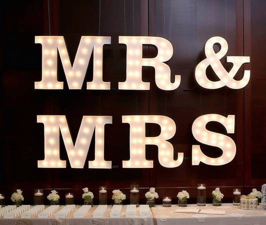 Mr & Mrs Marquee Letters