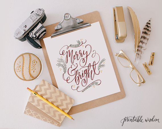 Merry & Bright Printable