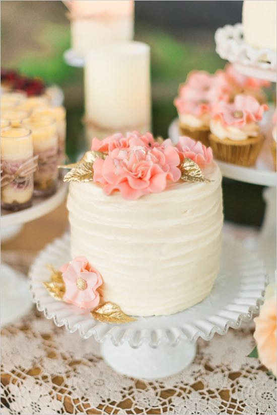 Gold and Pink Mini Cake