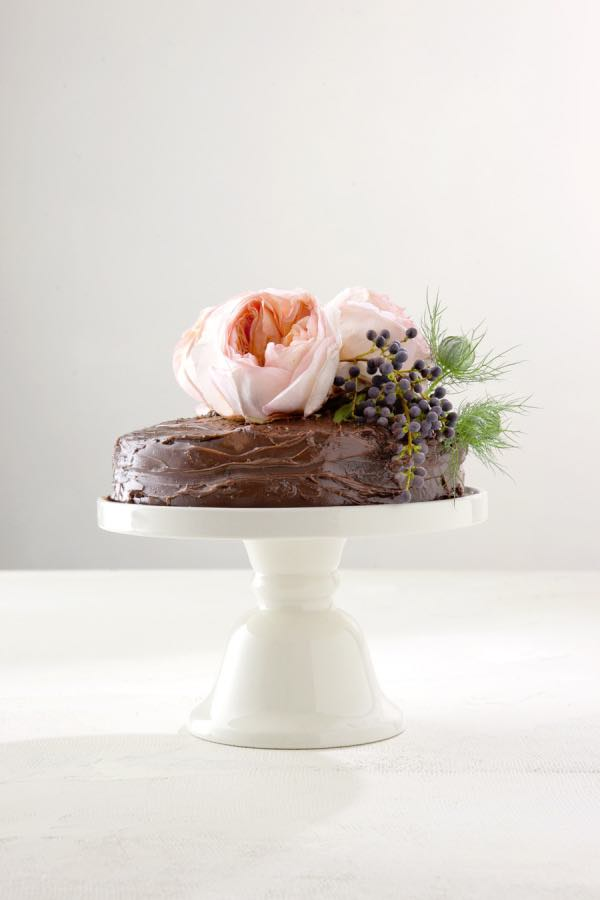 Single Layer Chocolate Wedding Cake